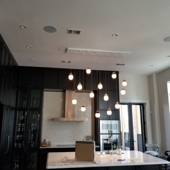 interior lighting for a kitchen
